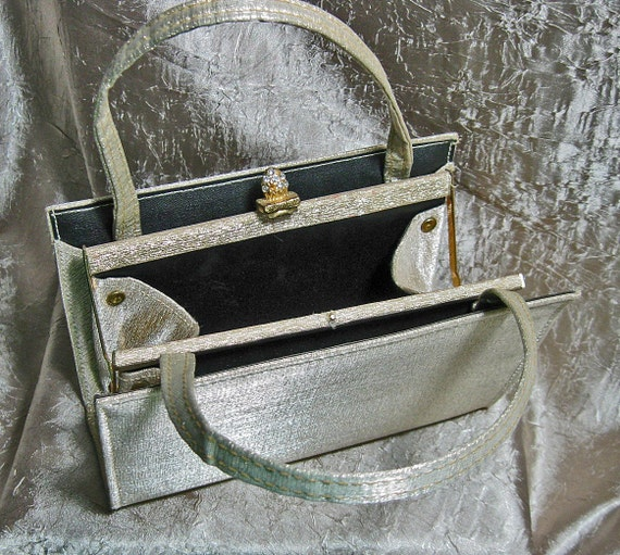 Vintage Gold Lame Evening Bag