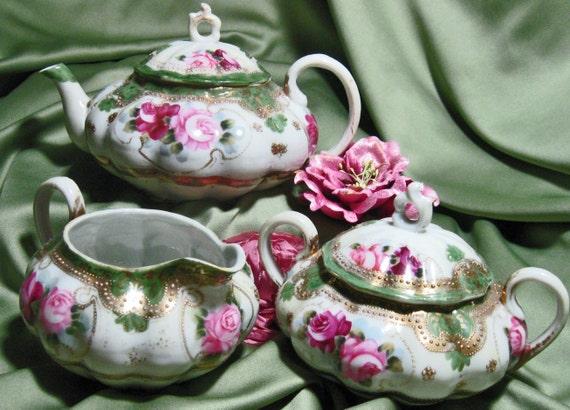 Vintage Oriental Tea Set Satsuma