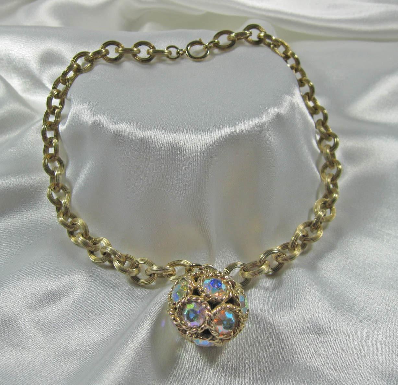 vintage 70s disco necklace designer