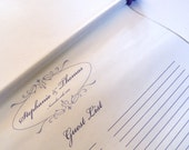 Wedding guest book alternative, guest list scroll, 200 guests, reception scroll