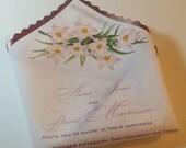 Spring wedding invitation, handkerchief