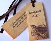Wedding favor tags, rustic wedding, plantable favor tags, wedding gift tags, vintage bird, seeded tag, woodland favor, outdoors wedding - 25