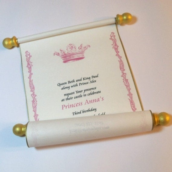 Fairytale Invitation Wording as luxury invitation template