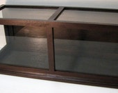Large DISPLAY CASE - Mahogany - solid wood- Tempered Glass Panels