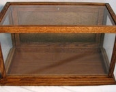 DISPLAY CASE - Solid Oak- Tempered Glass Panels