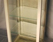 Tall DISPLAY CASE with Glass Shelves