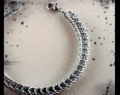 Silver Plated Box Style Chainmaille Bracelet