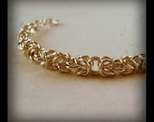 Silver Plated Byznatine Style Chainmaille Bracelet