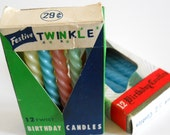 Birthday Candles Blue and Pastel Twist
