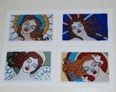 Set of 4 Print Angel Cards