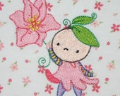 Too cute for words baby girl Blossom Baby embroidered onesie  OOAK