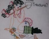 Pin-Up Pirate Pillow What Treasure