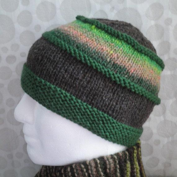 Knitting Pattern For Noro Wool : KNITTING PATTERN/VERMONT Mans Hat Pattern/Noro Wool by RomeoRomeo