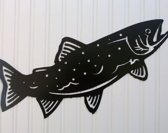 Trout Silhouette Wall Hanging