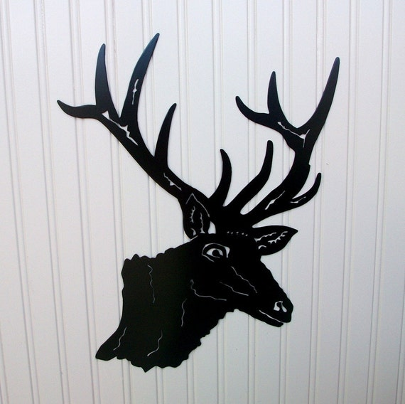 Items similar to Elk Head Silhouette Wall Hanging on Etsy