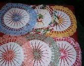 Multi color Doilies