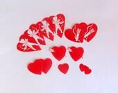 Vintage Valentines Day Gummed Seals or Stickers Set of 13