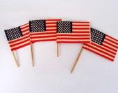 50% Off Sale  Vintage American Flag Pick Set of 4