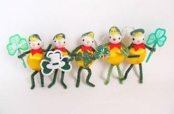St. Patricks Day Ornament Set of 5 Irishmen