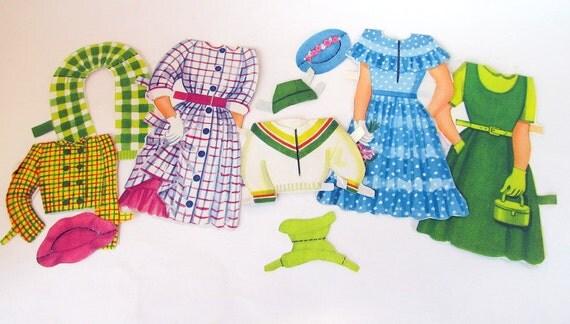 SALE Vintage Paper Doll Clothes  Lot of 80 Plus Pieces