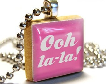 OOH LA LA Pendant Jewelry From A Scrabble Tile Necklace