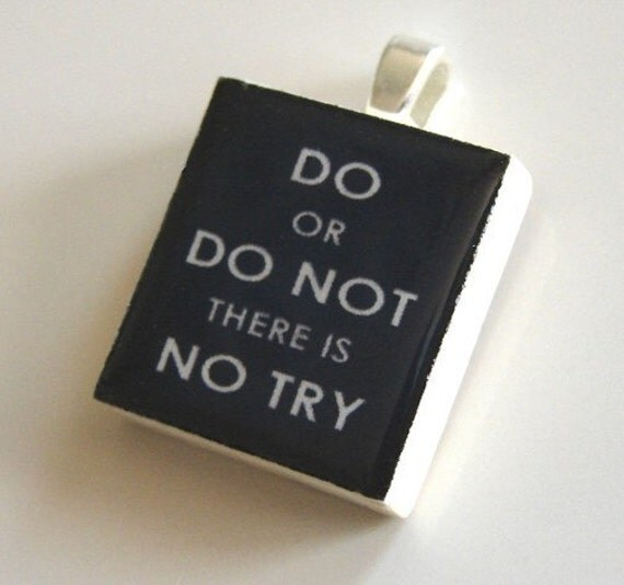 Scrabble Tile Pendant - DO OR DO NOT (Vader Black) - Buy 2 Pendants Get 1 FREE