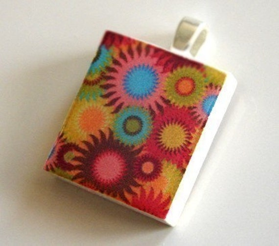 Scrabble Tile Pendant - SUNNY DAZE - Buy  2 Pendants Get 1 FREE
