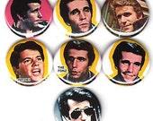 the FONZ  7 one inch pinback/badges/buttons  Arthur Fonzarelli fonzie potsie AYYYYYYYYY