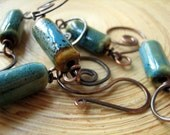 Custom Handcrafted Earthy Bracelet Copper And Ceramic