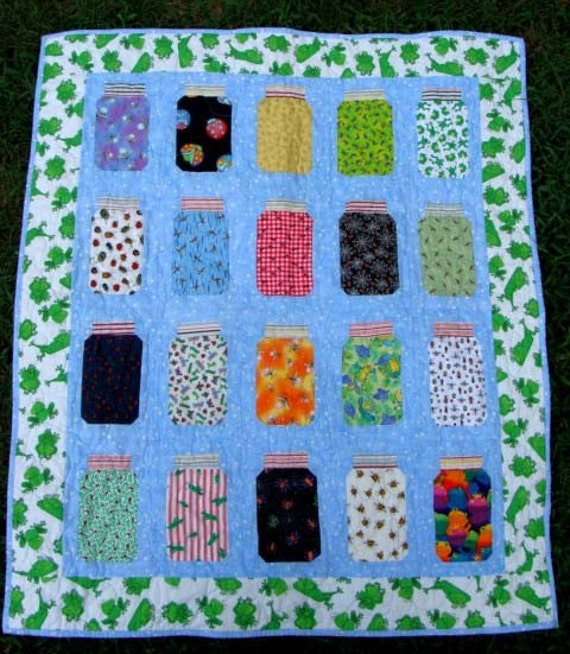 Bug Jar Quilt Top Kit Ladybugs Frogs Fabric Free By Bethage