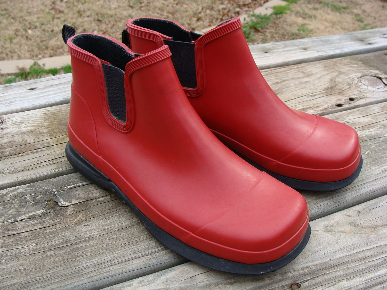 SALE Eddie Bauer Rain Boots Womens Ladies size 7 Red by bethage