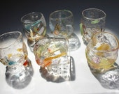 Hand Blown Glass Mosaic Drinking Cup