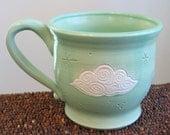 Fluffy Cloud Mug 14 oz. Stoneware Pottery Mug - Ceramic Coffee Cup