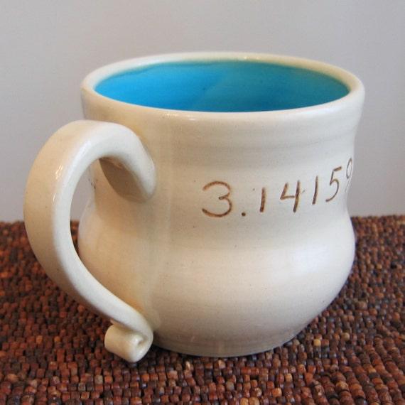 Pi Mug in Turquoise 16 oz.
