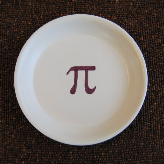 Purple Pi Pie Plate - Stoneware Pottery Teacher or Geek Gift