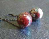 Painted Acrylic Bead Earrings