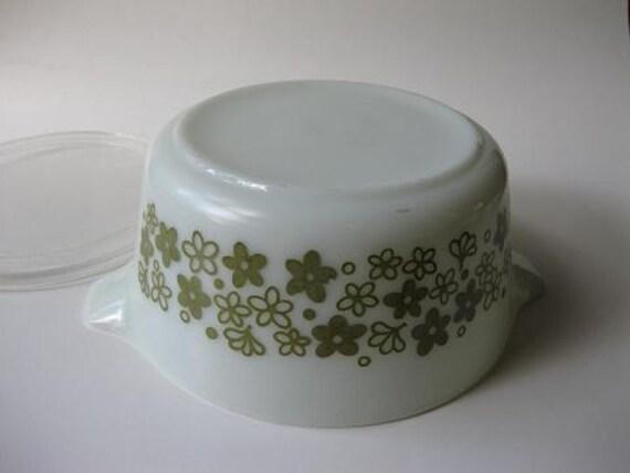 Vintage Pyrex Spring Blossom Cinderella 1.5 Qt  Baking Dish with Lid