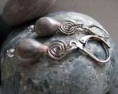 Natural Seed Job's Tears Swirl Earrings