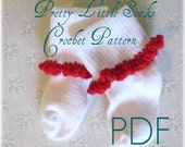 Pretty Little Ruffle Socks - CROCHET Pattern PDF ebook