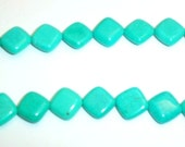 Price Reduction-Turquoise/Dyed Howlite 12mm diamond shaped beads