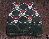 PIRATE SKULLS and SWORDS Harness Vest - Goth - 2 to 12 lb dogs - made to order