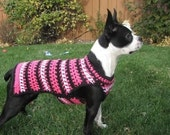 PRETTY in PINK sweater - available in many colors -2 to 20 lb dogs - made to order