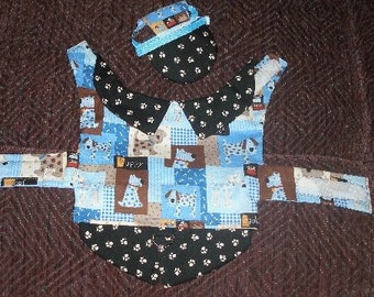 Custom BOY Dog Harness Vest and hat - SKIPS, DRAGONS, FLAMEs - Choose- Made to order - 2 to 15 lbs