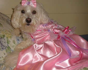CUSTOM BRIDESMAID dog dress - Wedding or Special Occasion - Prom - Check on timing and fabrics- made to order up to 20 lbs