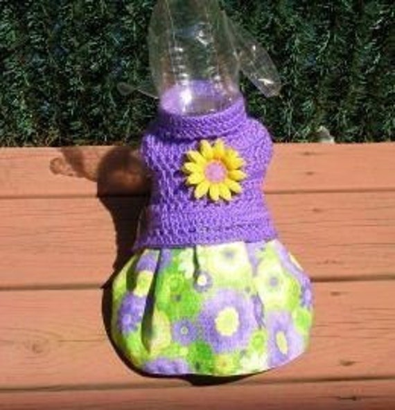 RESERVED for Pooka and Liffey - Last One -PASSION FLOWER Skirt-ter - 2 to 20 lb dogs -Made to order -Includes hair bow