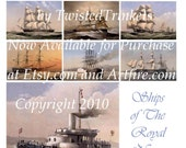 Ships of The Royal Navy Digital Collage Sheet - Digital Delivery or Hardcopy