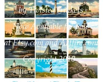 Lighthouse Postcards Digital Collage - Digital Delivery or Hardcopy