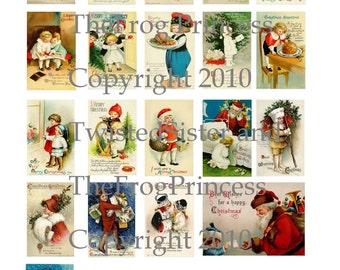 Ellen Clapsaddle - Vintage Christmas Collage Sheet - Digital Delivery or Hardcopy