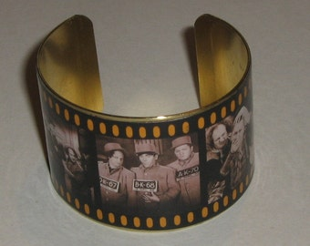 Film Strip Cuff Bracelet, Three Stooges Film Strip, Old Movie Cuff Bracelet