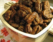 Love at First Bite Spicy Sweet Pecans, Large Nibbler Size Bag, Bring as a Hostess Gift to your next Cocktail Party